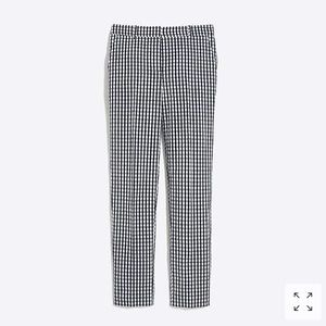 J Crew Factory - Gingham Cropped Pants - NWOT